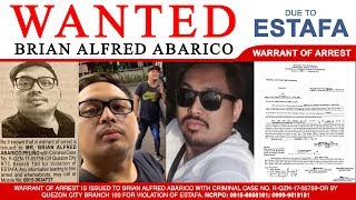 Gambar cover BRIAN ALFRED ABARICO - WANTED due to ESTAFA