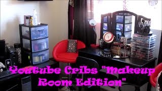 "Youtube Cribs ""makeup Room Tour"" + Affordable Storage & Organization Ideas"