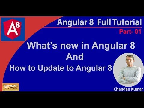 What's new in Angular 8 | How to update to version 8 | Angular 8 Full Tutorial in Hindi thumbnail