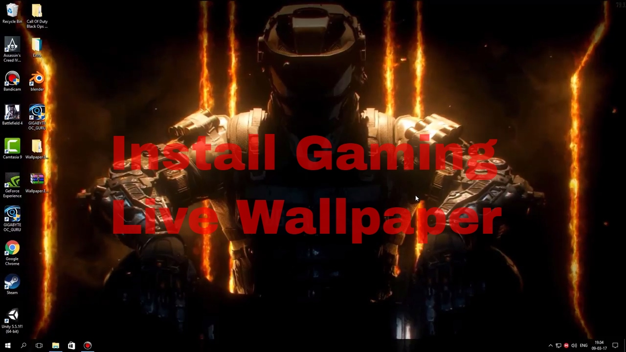 How to install live gaming wallpapers 2017. - YouTube