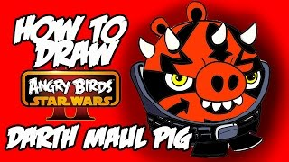 How to draw Darth maul (angry birds star wars 2)