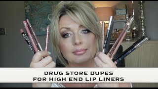 Drugstore Dupes High End Lip Liners