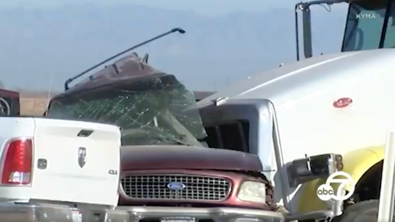 CHP: 13 people are dead after an SUV collided with a semi-truck near the US-Mexico border