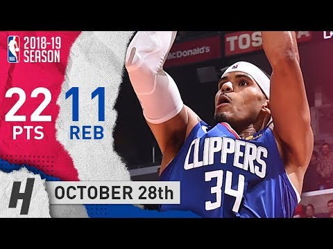 Tobias Harris Full Highlights Clippers vs Wizards 2018.10.28 - 22 Pts, 11 Rebounds!