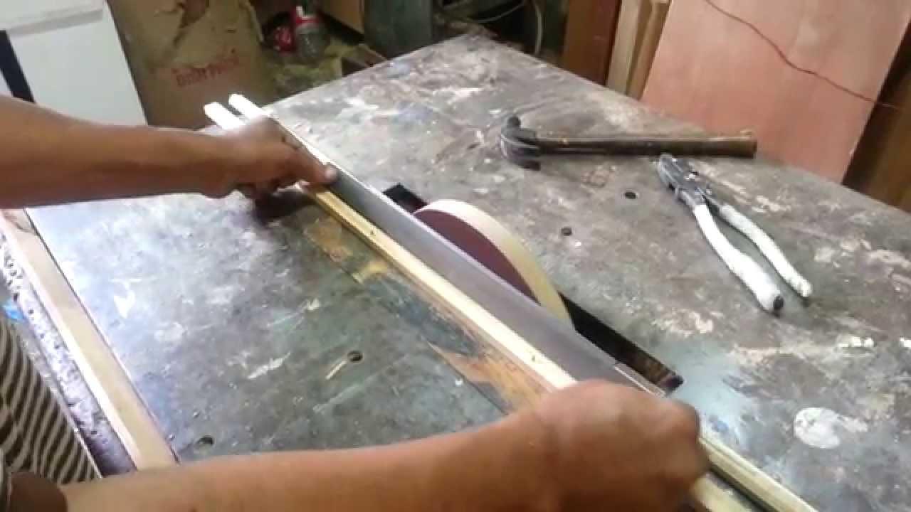Afilado de cuchillas en la sierra circular para garlopa y cepillo ...