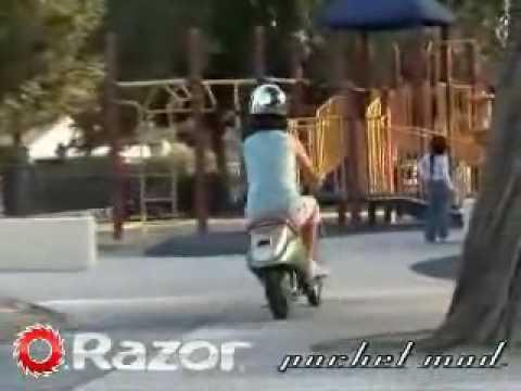 Razor 174 Pocket Mod Miniature Euro Style Electric Scooter