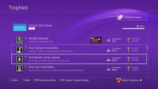 Horizon Zero Dawn Full Trophy List