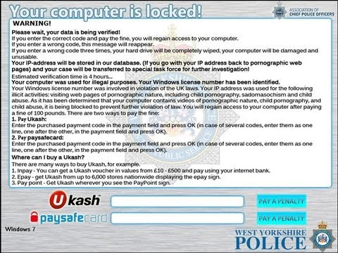 Remove West Yorkshire Police Ransomware - Decrypt Locked Files by Britec free Download :popular-software.com