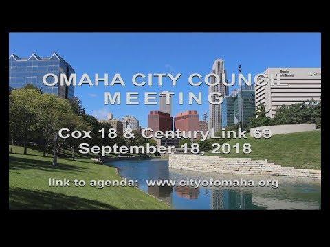 Omaha Nebraska City Council meeting September 18, 2018