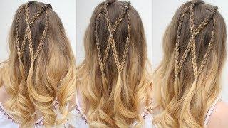 Half Up Butterfly Braid | Half Down Hairstyles | Braidsandstyles12