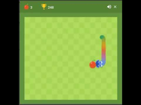 The Highest Score In The World In Google Rainbow Snake.(world Record)