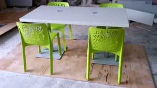 Corian restaurant Table and chairs