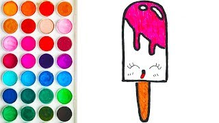 Drawing of Ice Cream for Babies, Coloring for Child