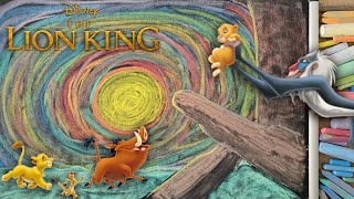 8 HOURS of Disney's The Lion King ♫ Chalk Art Lullaby for Babies (Can You Feel the Love Tonight?)