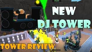 NEW DJ Tower (Better than Commander?) Reviews! Tower Battles ROBLOX