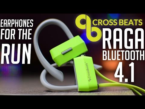 CrossBeats Raga Bluetooth Earphones - IPX4, Securefit !