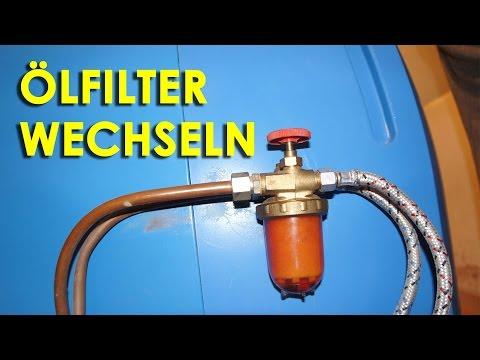 Gut gemocht Heizung Ölfilter wechseln - YouTube KT95