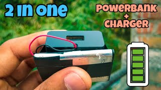 #homemade #powerbank how can you make your own charger + power bank 2in1