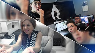 MY MOM REACTS TO LEAVING THE FAZE HOUSE PRANK