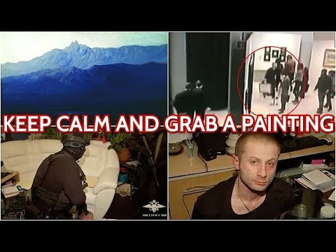 Grab & Go! Russian Guy Walks in Tretyakov Gallery, Cassually Filch Famous Artwork And Walks Out!