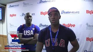 Paralympian David Brown & aid Jerome Avery 1st 100-11.26 & 2nd 200-23.15 @ 2018 Drake Relays