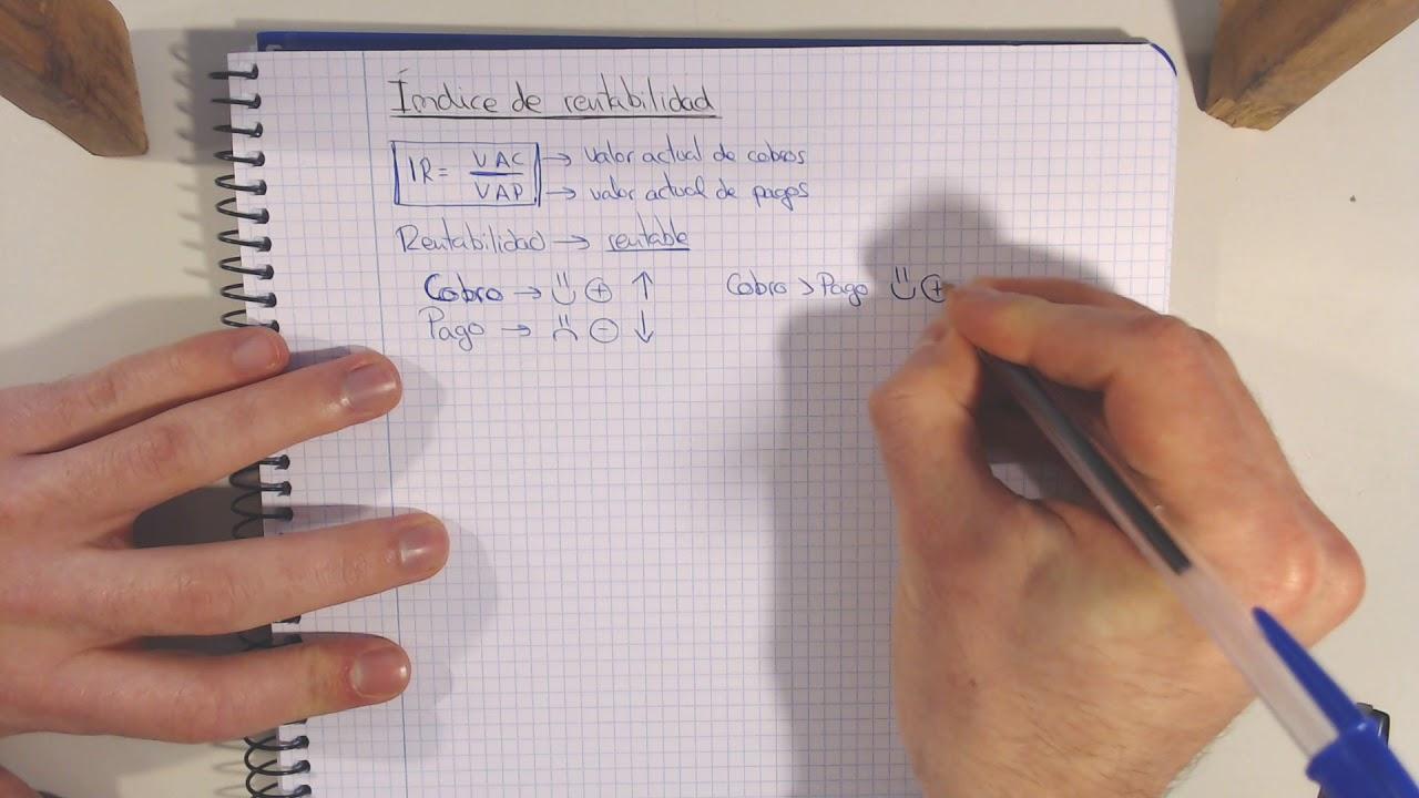 Download ÍNDICE DE RENTABILIDAD   Formula y Explicación Economía de la empresa UNED ADE