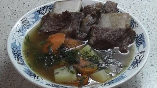 Как приготовить шурпу из телятины с овощами(Блюдо узбекской кухни в современной обработке.Пошаговый видео рецепт приготовления шурпы из телячьих..., 2014-01-22T20:24:48.000Z)