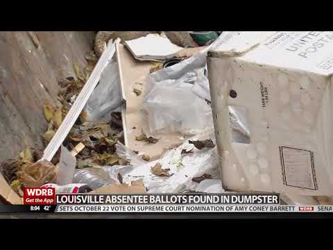 "WDRB Louisville: ""Bins Full Of Ballots"" Found In A Dumpster"
