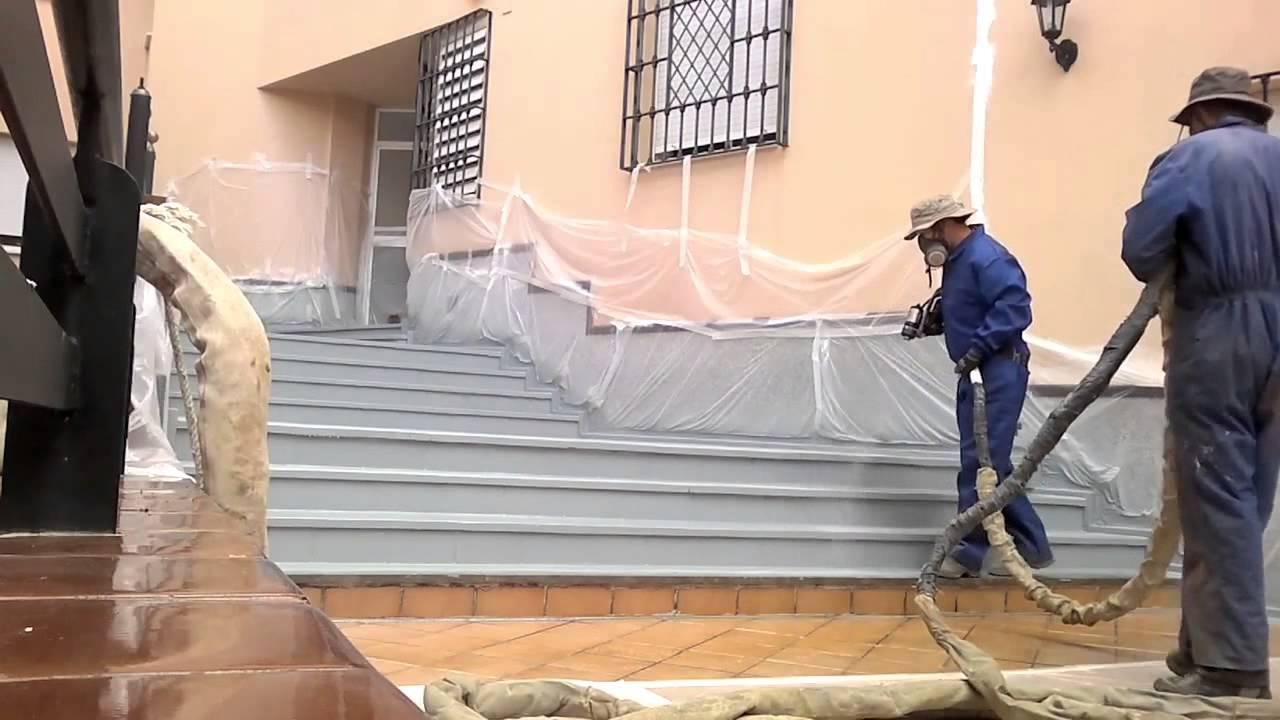Impermeabilizzazione terrazza e scale tramite resina - YouTube