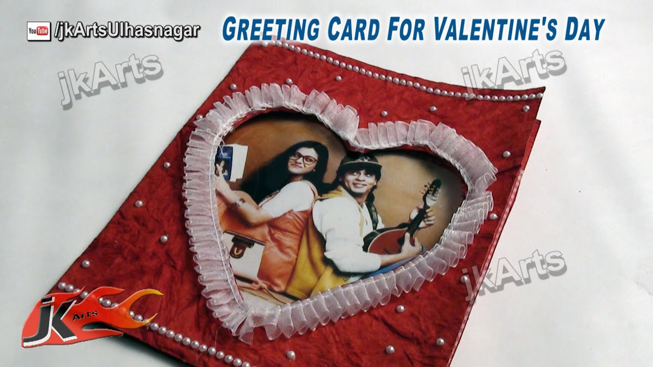 diy valentine s day photo greeting card jk arts 478 youtube