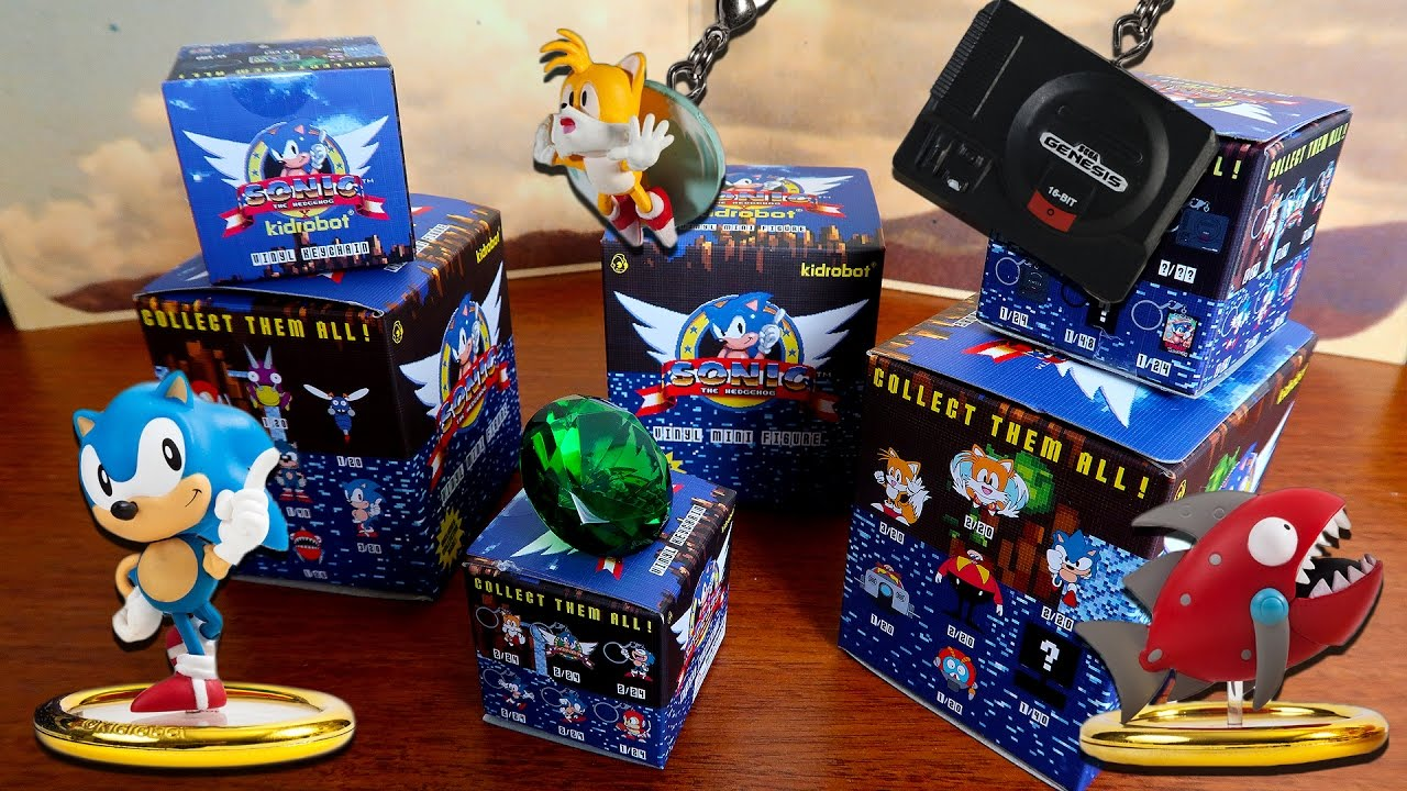 Classic Sonic The Hedgehog Blind Boxes Kidrobot Youtube