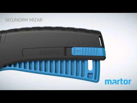 Safety knife MARTOR SECUNORM MIZAR product video GB