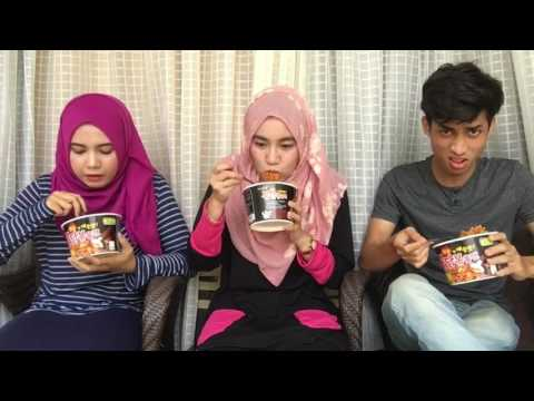 Spicy Korean Ramen Noodle Challenge Ainan, Dila & Kimi 1280x720