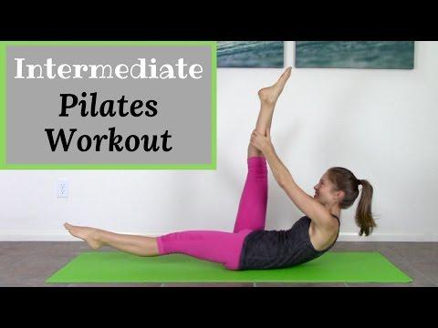 Intermediate Pilates Mat Workout 20 Minute Pilates Workout