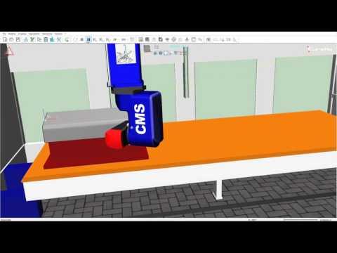 Symulator centrum frezarskiego - 5AX MACHINE   CMS ARES Eureka Virtual Machining v.8