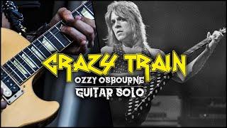 Crazy Train (Ozzy Osbourne) - Solo - Guitar Tutorial with Paul Audia