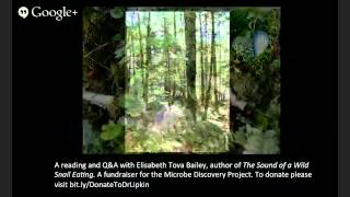 Wild Snail Discovery with Elisabeth Tova Bailey: Part II: Time and the microcosmos