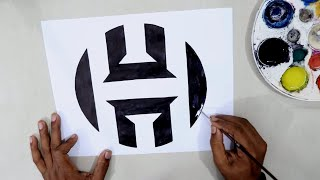 How to draw the James Harden logo @James Harden
