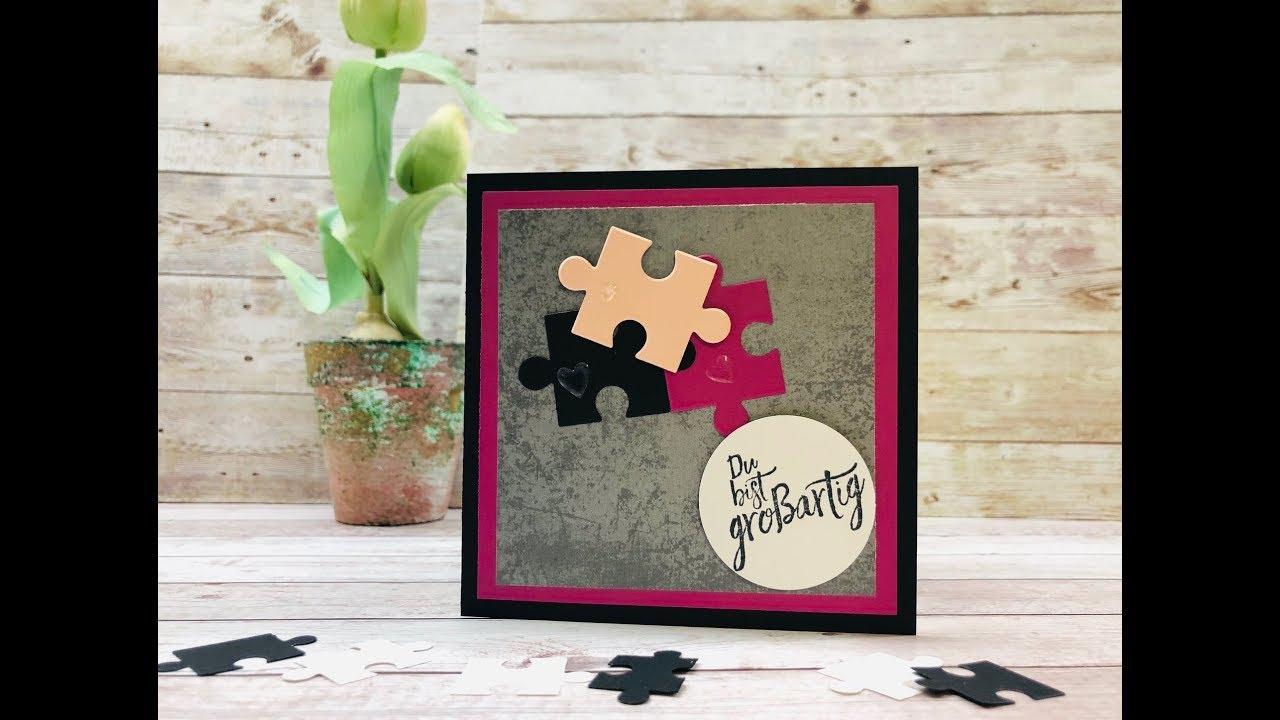 puzzle selber machen als gru karte youtube. Black Bedroom Furniture Sets. Home Design Ideas