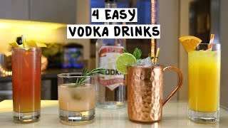Four Easy Vodka Drinks