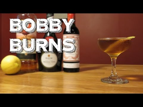 Bobby Burns - a Scotch Whisky Cocktail with Sweet Vermouth & Benedictine, Perfect for New Years