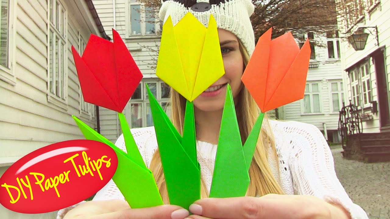 Origami flower easy paper flowers youtube mightylinksfo