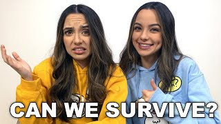 CAN WE SURVIVE? Playing Minecraft in Survival Mode - Merrell Twins Live