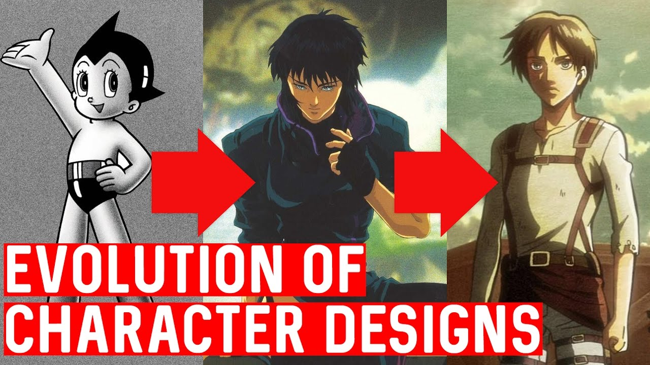 Character Design Evolution : The evolution of anime character designs youtube