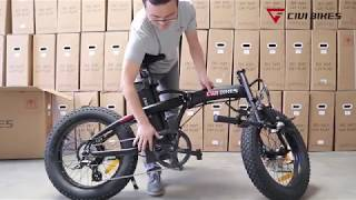 Revi Bikes (Civi Bikes) Rebel Electric Folding Bike Assembly