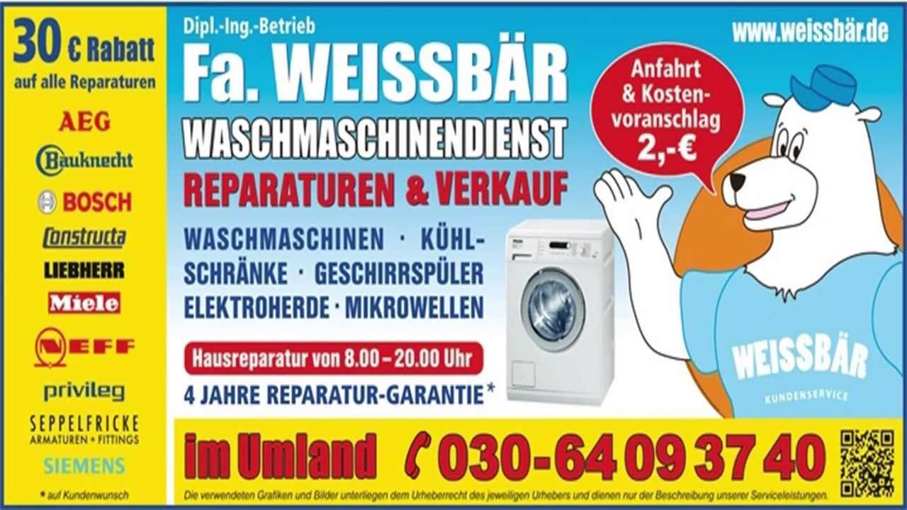 waschmaschinen reparatur berlin youtube. Black Bedroom Furniture Sets. Home Design Ideas