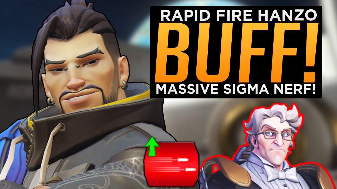 Overwatch: Rapid Fire Hanzo BUFF! - MASSIVE Sigma Nerf!