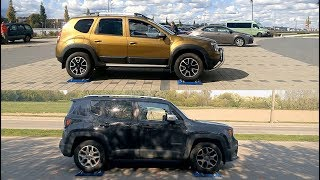 Dacia Duster 4WD vs Jeep Renegade Active Drive - 4x4 test on rollers