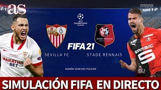 SEVILLA vs. STADE RENNES | FIFA 21: simulación del partido de fase de grupos de la Champions | AS