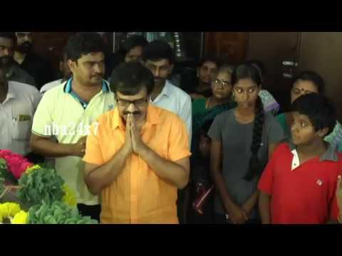 Actor Vivek , Napoleon , Senthil Pays last respect to Actor Vinu Chakravarthy   nba 24x7